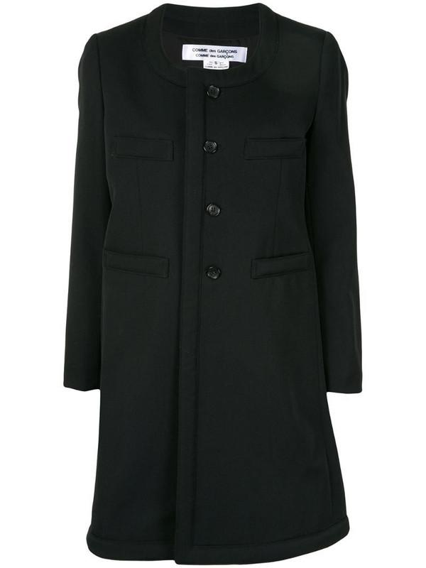 Comme Des Garçons Comme Des Garçons collarless single-breasted coat in black