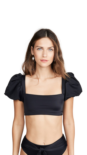 Agua Bendita Calista Bikini Top in black