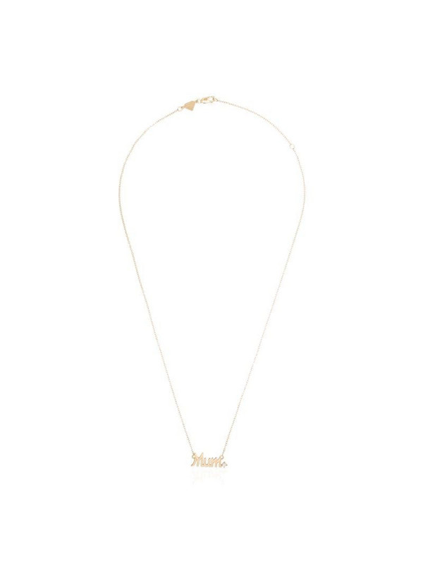 Alison Lou 14kt gold and diamond Mum necklace