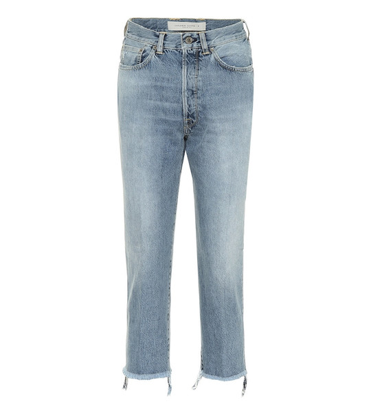 Golden Goose Texas cropped straight jeans in blue