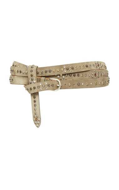 Isabel Marant Djelvis Studded Leather Belt Size: S in neutral