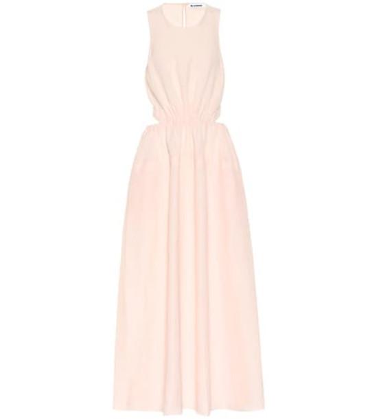 Jil Sander Linen-blend maxi dress in pink