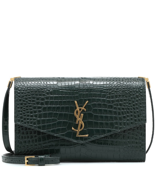 Saint Laurent Uptown leather crossbody bag in green