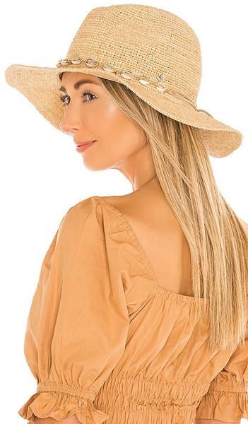florabella Lydia Hat in Beige in natural