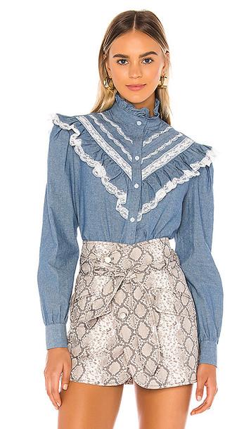 Petersyn Almira Blouse in Blue