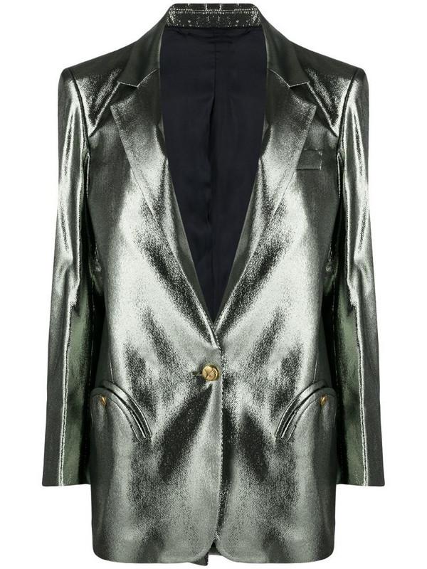 Blazé Milano metallic single-breasted blazer