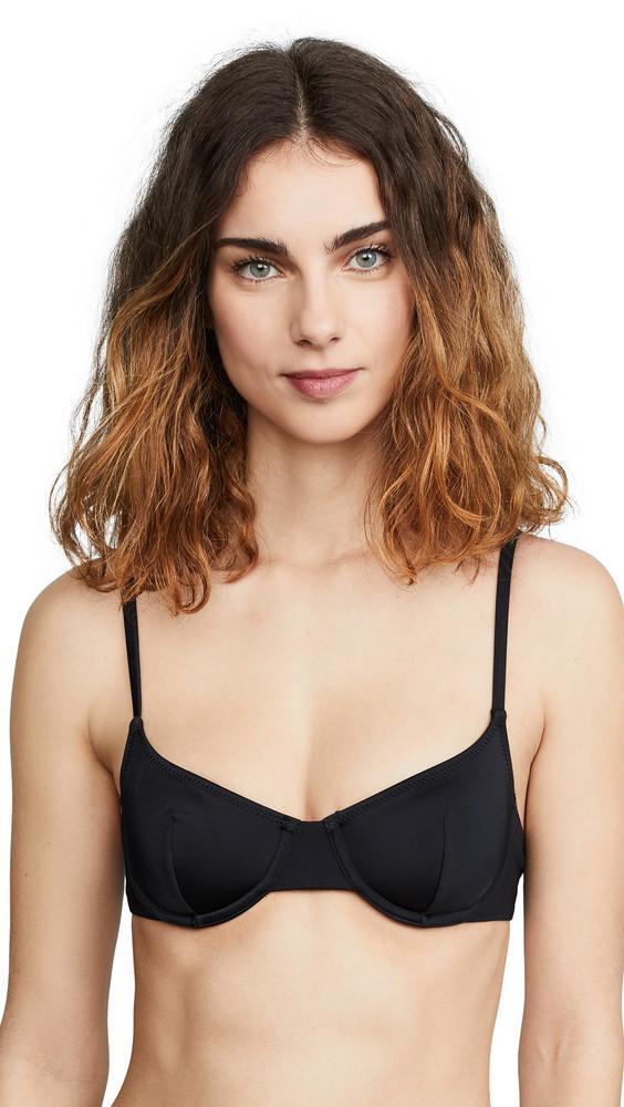 Solid & Striped Eva Bikini Top in black