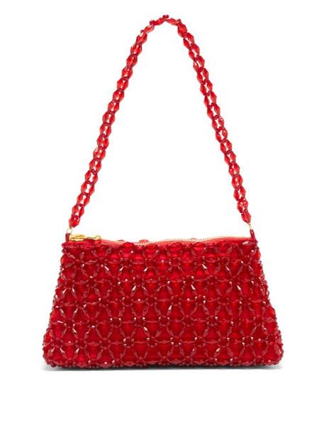 Shrimps - Dawson Floral-beaded Bag - Womens - Red