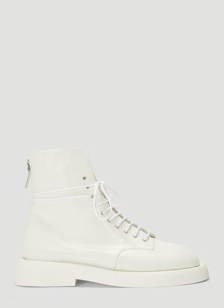 Marsell Gommello Polacchino Shoes in White size EU - 38.5