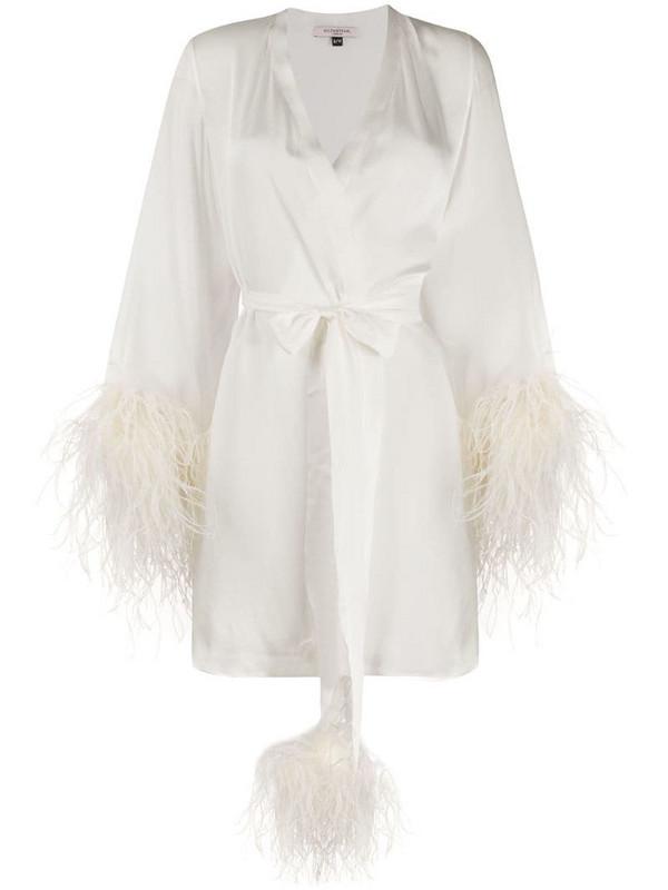 Gilda & Pearl Esme short satin kimono in white