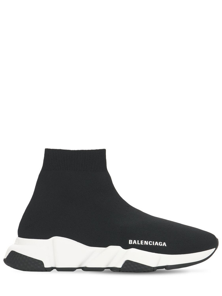 BALENCIAGA 30mm Speed Knit Sneakers in black / white