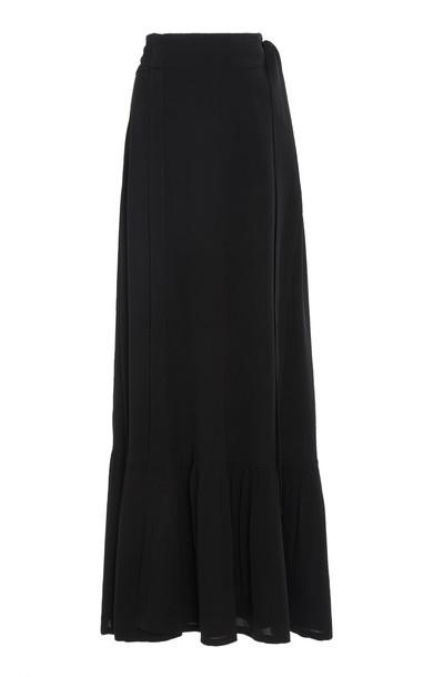 Chufy Palm Maxi Skirt Size: XS in black