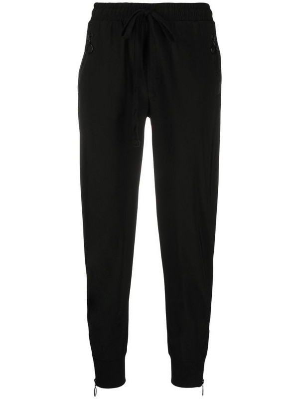 Thom Krom fitted drawstring track pants in black