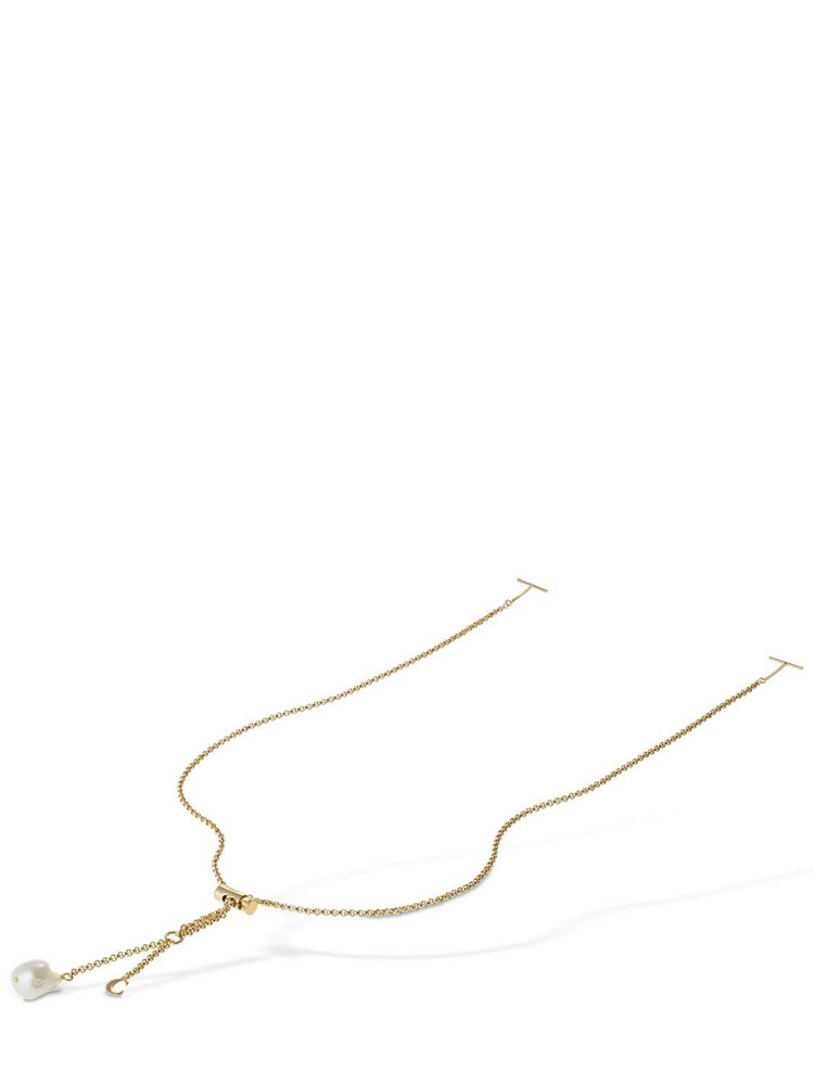 CHLOÉ Darcey Sunglasses Chain W/ Pearl in gold / white
