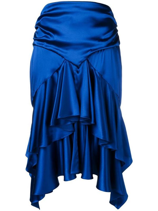 Alexandre Vauthier ruffled skirt in blue