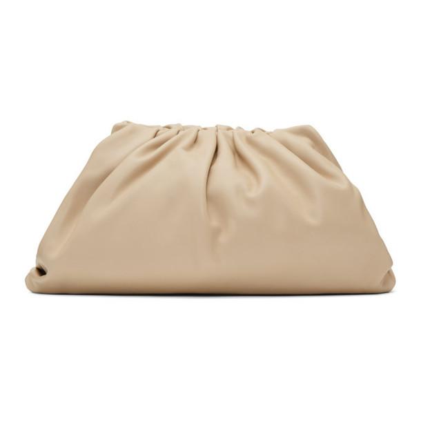 Bottega Veneta Beige Oversized The Pouch Clutch