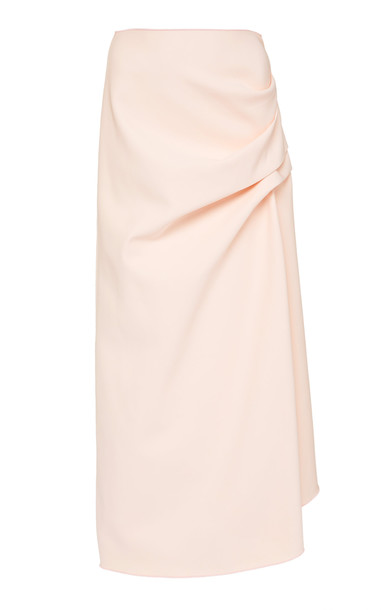 Acler Thistle Gathered Midi Skirt Size: 2 in pink