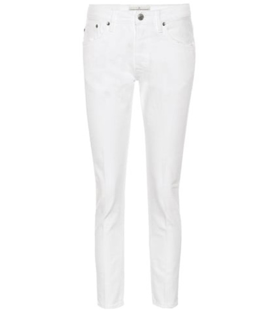 Golden Goose Deluxe Brand Jolly cropped straight jeans in white