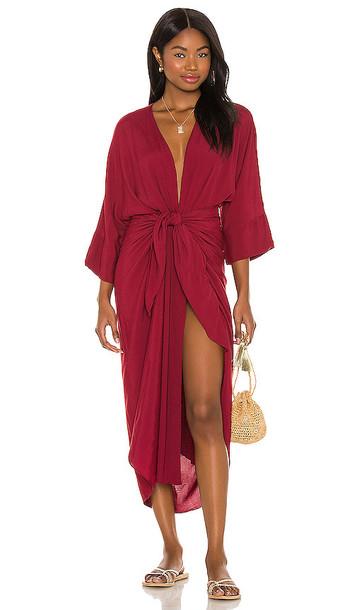 HAIGHT. HAIGHT. Ana Dress in Burgundy