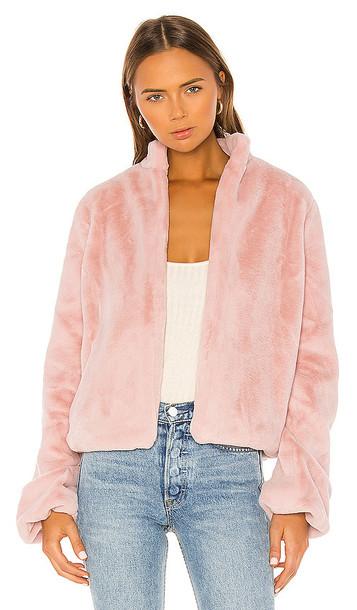 Tularosa Inori Faux Fur Jacket in Pink