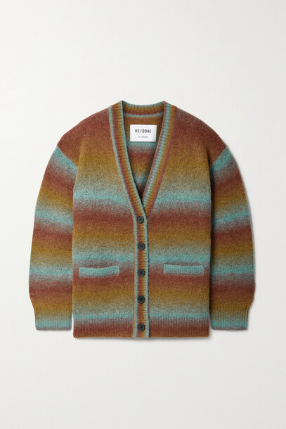RE/DONE - 90s Striped Wool-blend Cardigan - Red