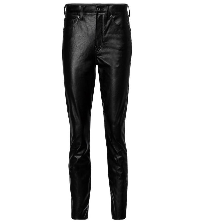 Veronica Beard Debbie faux leather skinny pants in black