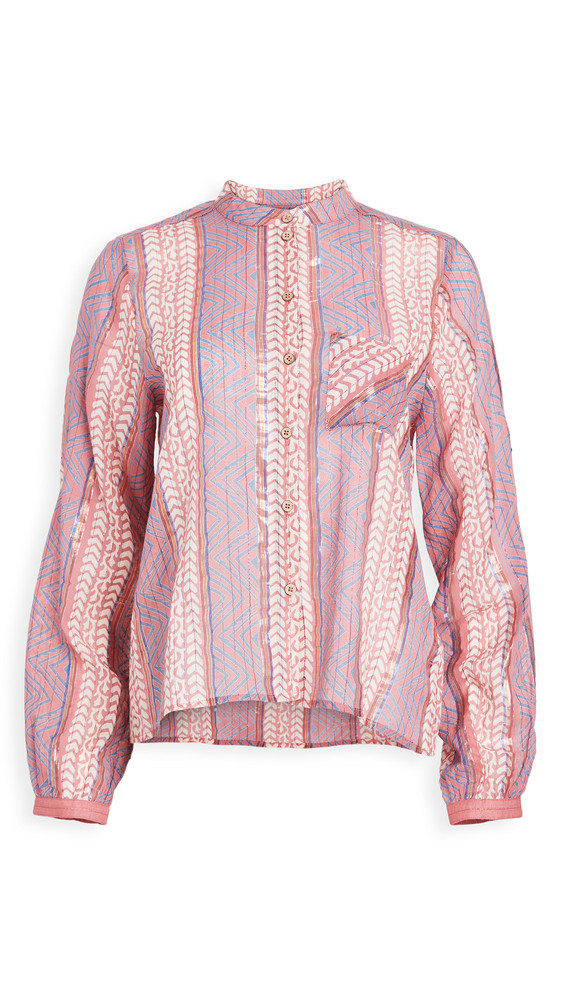 Warm Phoebe Blouse in pink / multi