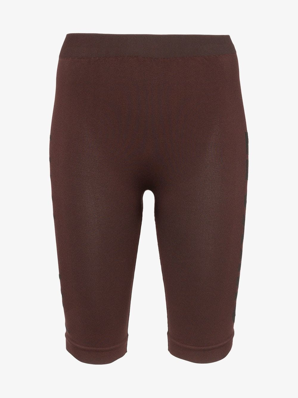 Unravel Project seamless knee-length cycling shorts in brown