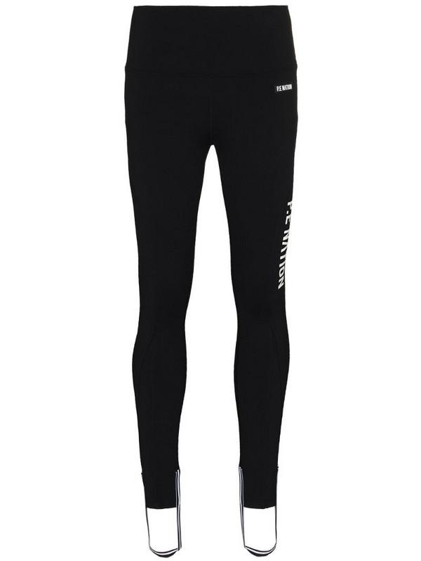 P.E Nation Run logo stirrup leggings in black