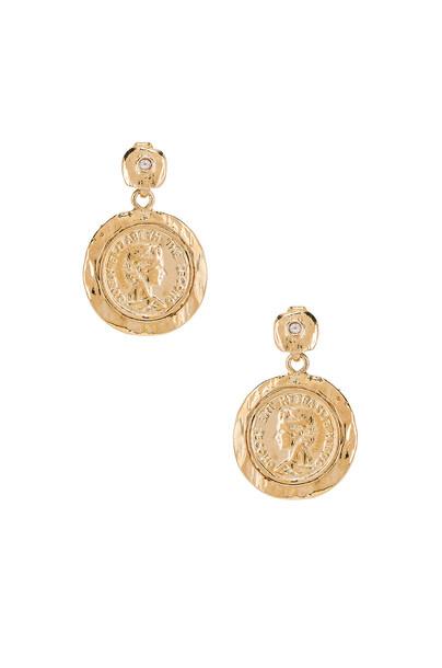joolz by Martha Calvo Tesori Coin Earrings in gold / metallic