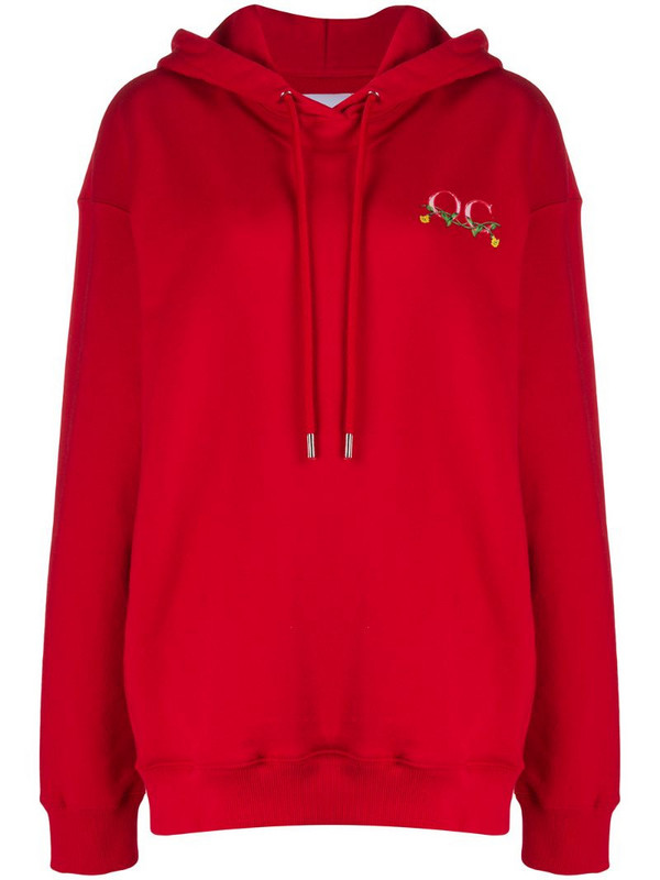 Opening Ceremony phone print hoodie in red