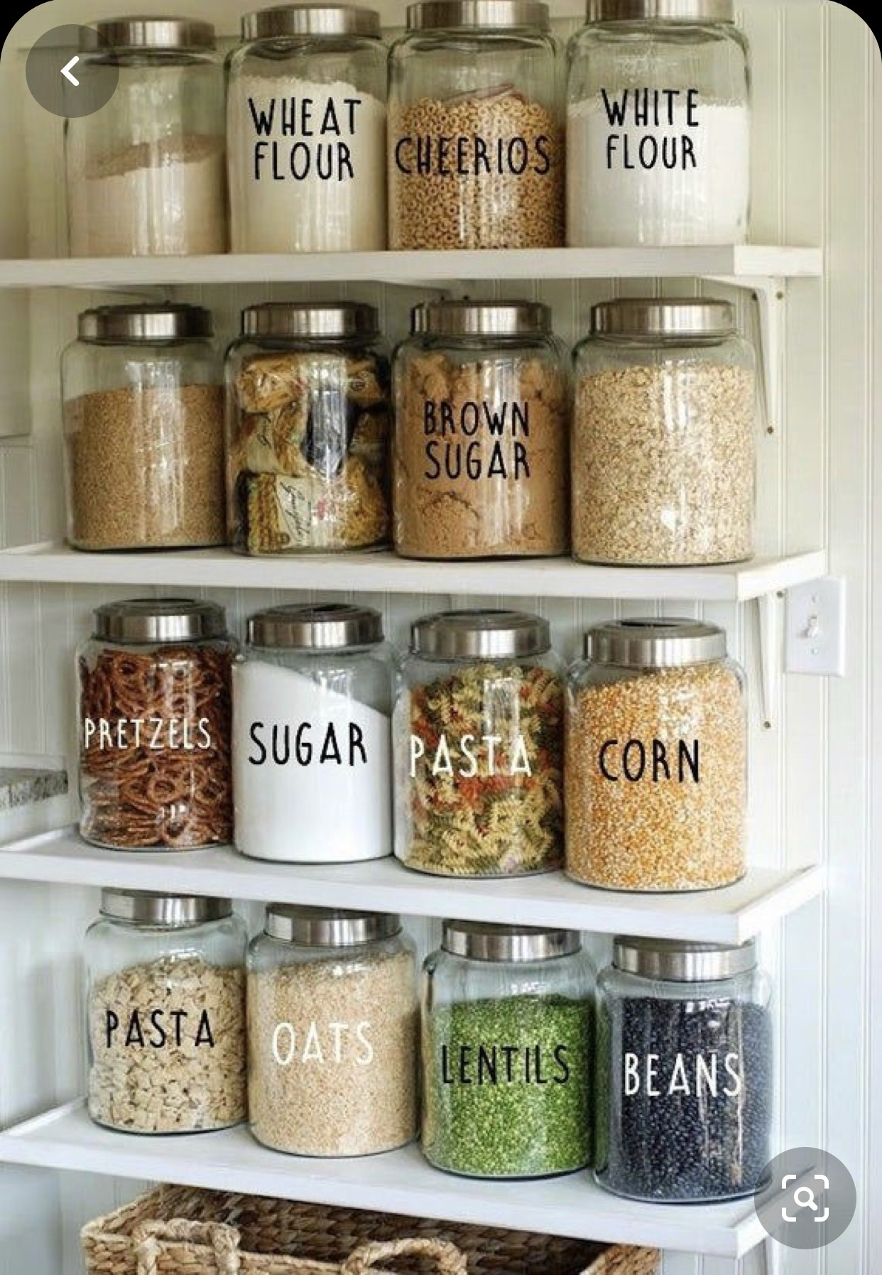 home accessory glass canister with silver lids