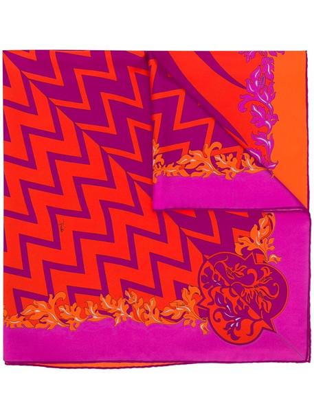 Emilio Pucci x Koché Lupa-print scarf in pink