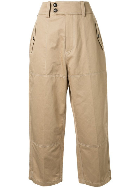 Marni cropped trousers in brown