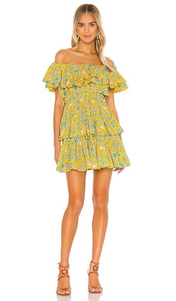 Rhode Dotty Dress in Yellow