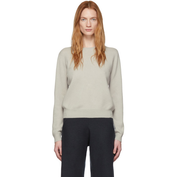 Frenckenberger Beige Cashmere R-Neck Sweater