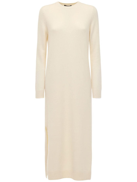 LORO PIANA Baby Cashmere Knit Long Dress in ivory