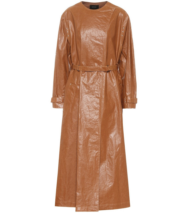 Isabel Marant Corly linen-blend trench coat in brown