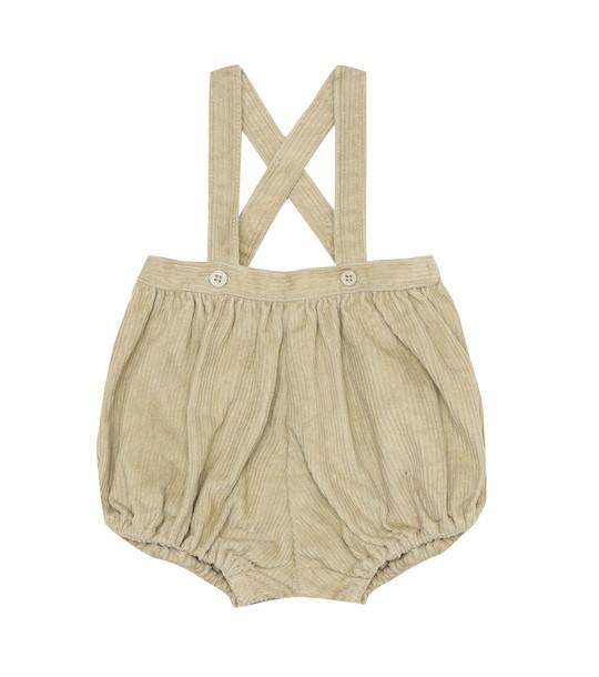 Caramel Baby Dunlin corduroy overalls in beige
