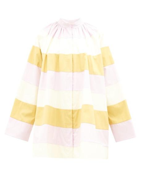 Roksanda - Cassidy A-line Colour-block Cotton Coat - Womens - Multi