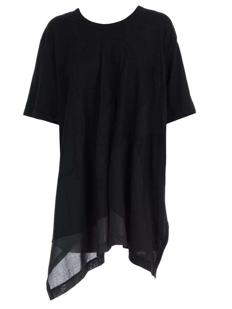 Y's Paneled T-shirt in black
