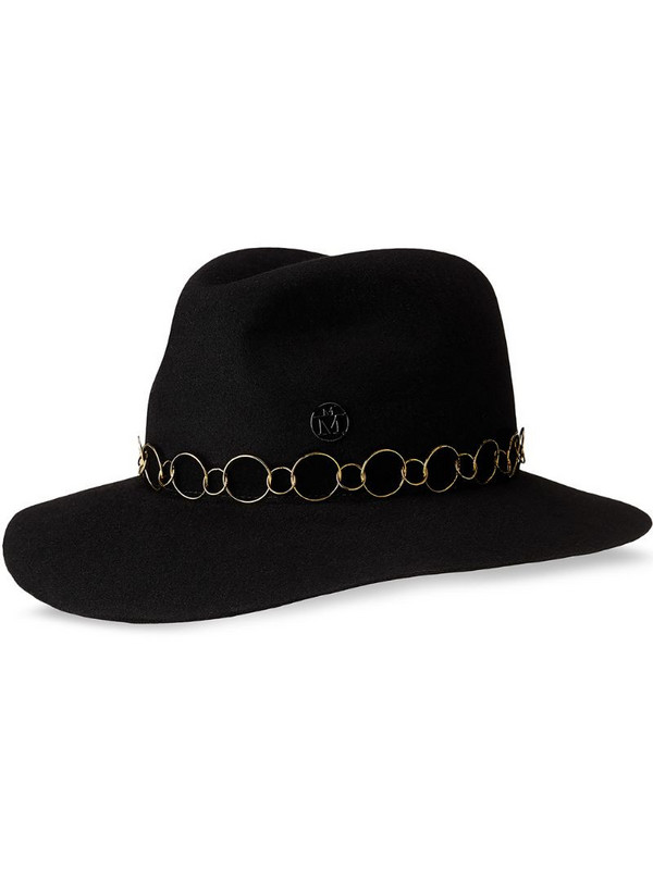 Maison Michel Henrietta fedora hat in black