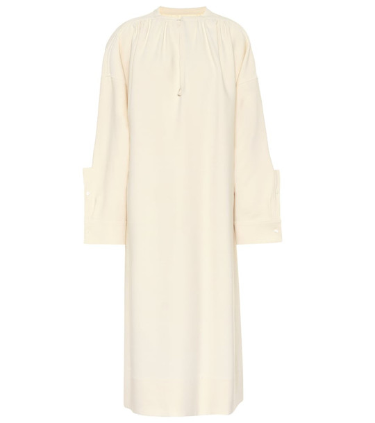 Jil Sander Wool and silk blend dress in beige