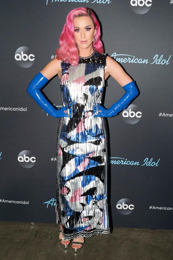 shoes metallic dress celebrity katy perry
