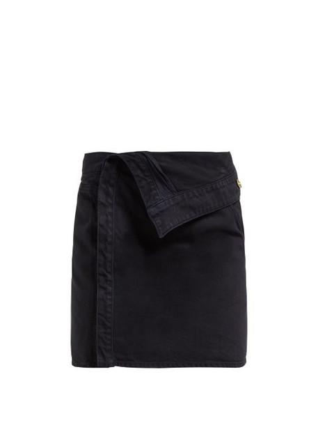 Jacquemus - La Mini Asymmetric Denim Skirt - Womens - Navy