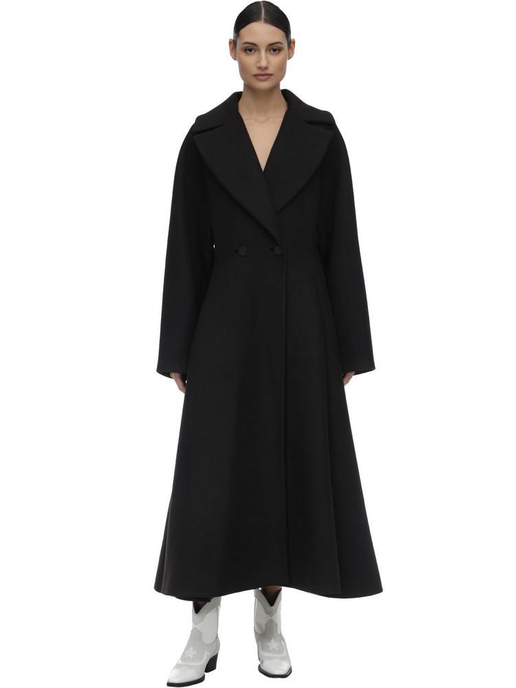 WE11 DONE Long Techno Coat in black