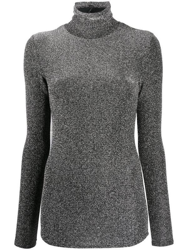 Isabel Marant lurex turtleneck jumper in black
