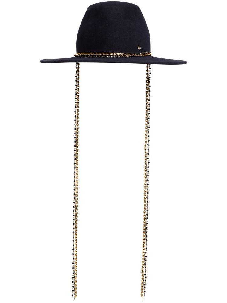 MAISON MICHEL Kyra Wool Felt Hat in navy