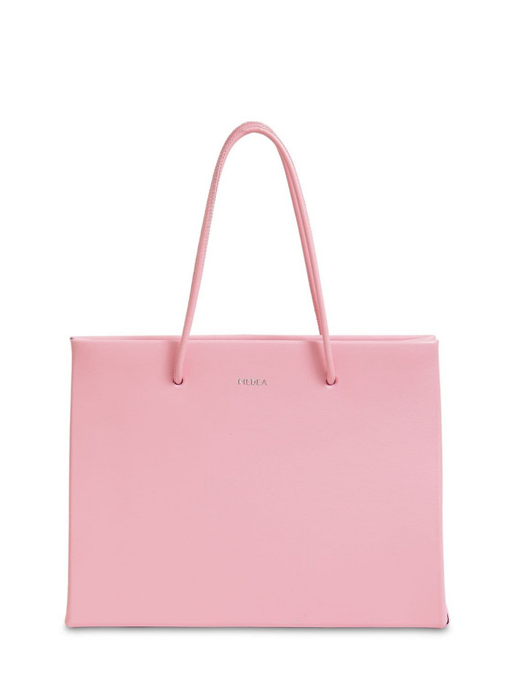 MEDEA Hanna Leather Top Handle Bag in pink