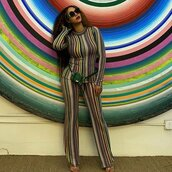 top,colorful,instagram,beyonce,stripes,striped top,striped pants,celebrity